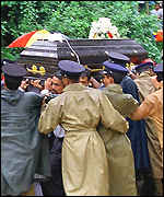 Funeral of poll violence victim