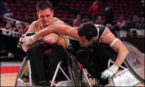 Wheelchair rugby athletes are all rated differently