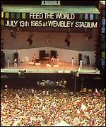 Live Aid rocks Wembley in 1985