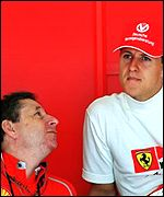 Jean Todt (left) and Michael Schumacher
