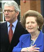 John Major and Baroness Thatcher