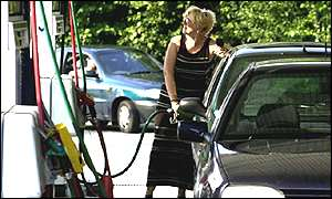 Filling the car