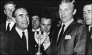 Sir Alf Ramsey and Sir Bobby Moore