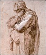 Mourning woman by Michelangelo