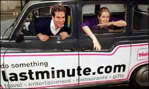 Lastminute founders Martha Lane Fox and Brent Hoberman