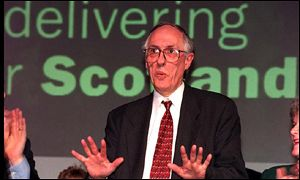 Donald Dewar at conference