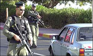 Israeli troops on patrol in Nazareth