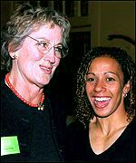 Germaine Greer and Olympic bronze medallist Kelly Holmes