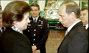 Tereshkova and President Vladimir Putin