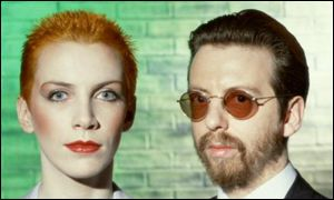 Dave Stewart with Annie Lennox of the Eurythmics