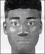 An e-fit of the murder suspect