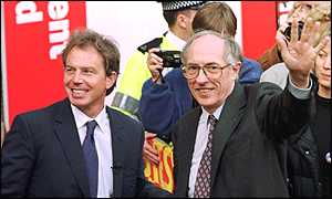 Tony Blair with Donald Dewar