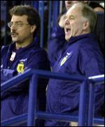 Craig Brown watches Scotland from the stands