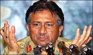 General Musharraf at a news conference