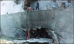 Hole in USS Cole
