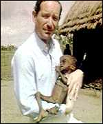 Michael Buerk in Ethiopia, 1984