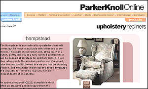 Parker Konll Hampstead recllining chair