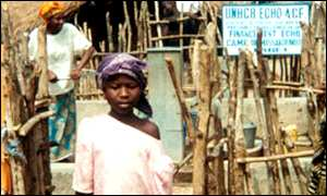 Guinea refugee camp
