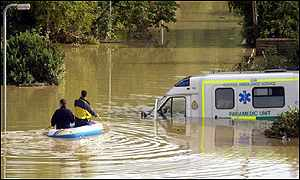 When the River Ouse burst its banks, it hampered even the emergency services