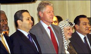 President Clinton with UN Secretary-General Kofi Annan and Middle East leaders
