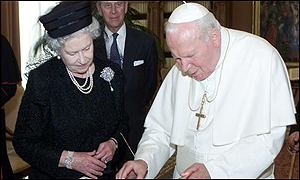 Queen and Pope