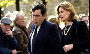 Chancellor Gordon Brown and his wife Sarah