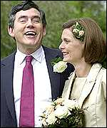 Chancellor Gordon Brown and wife Sarah