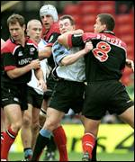 Rob Howley and Tony Diprose exchange blows