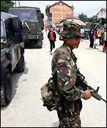 Kfor troops in Kosovo