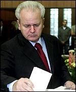 Slobodan Milosevic voting in September elections