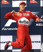 Michael Schumacher wins the Australian Grand Prix
