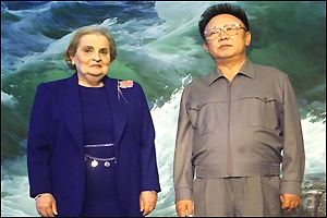 Madeleine Albright and Kim Jong-il