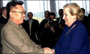 Kim Jong-il and Mrs Albright