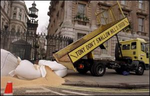 greenpeace demo outside downing street