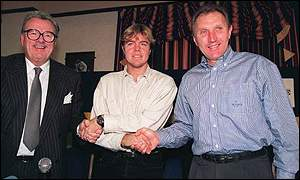 Bill Fotherby, Tomas Brolin and Howard Wilkinson