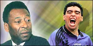 Pele and Maradona - head to head
