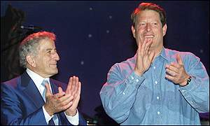 Tony Bennett and Al Gore