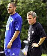 Stan Collymore (left) and Peter Taylor