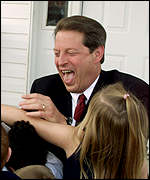 Al Gore laughing with school children