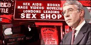 ... Straw is determined to clamp down on explicit videos sold in sex shops