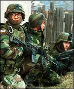 US troops in Kosovo