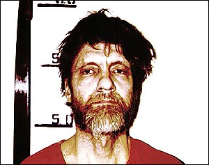 image: [ Theodore Kaczynski - denies being the Unabomber ]