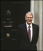 [ image: John Major: at home advising the monarchy]