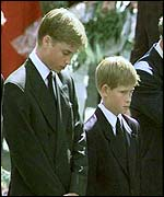 [ image: The young princes at their mother's funeral]
