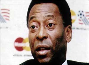 image: [ Pele, from football superstar to Brazilian sports minister ]