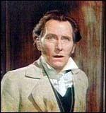 [ image: ... shocks a speechless Peter Cushing...]