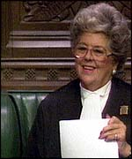 [ image: Betty Boothroyd is to meet Sinn Fein MPs]