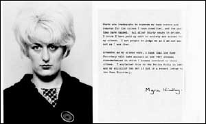 image: [ Myra Hindley and her statement of apology ]