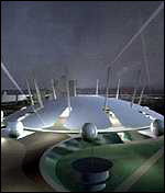 [ image: Computer simulation of Millennium dome]
