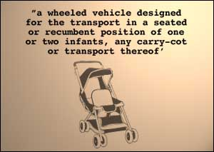 image: [ Department of Trade and Industry's not-so concise description of a pram ]